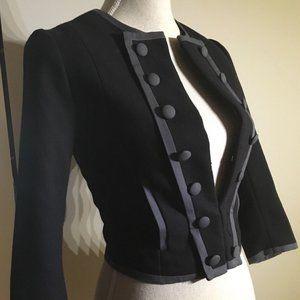 H&M Black and Gray Military Jacket Pockets XS